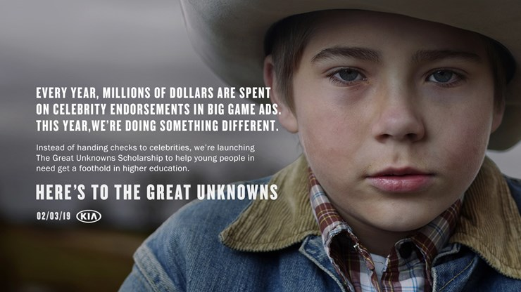 """Kia Motors Teases Super Bowl Campaign with Launch of """"The Great Unknowns Scholarship"""