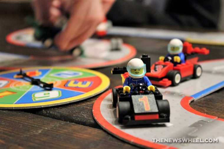 LEGO Racers Super Speedway Game review family car board game bricks