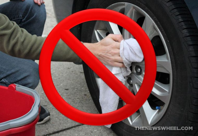 wash car wheels scrub clean tires tips proper way wrong