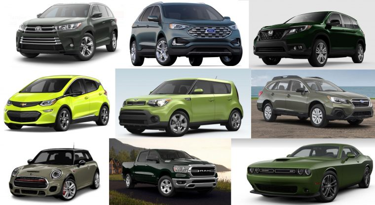 2019 cars available in green color vehicles models