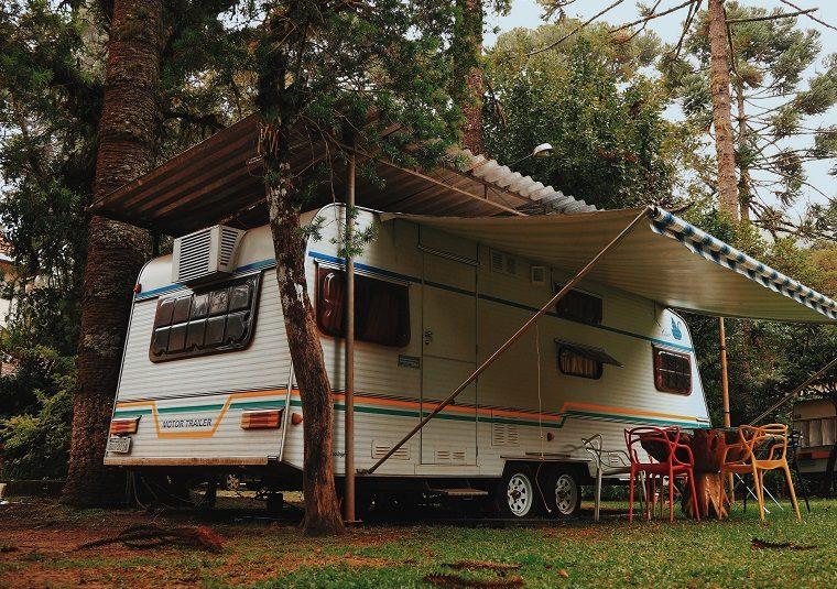 Camper Van in the Woods