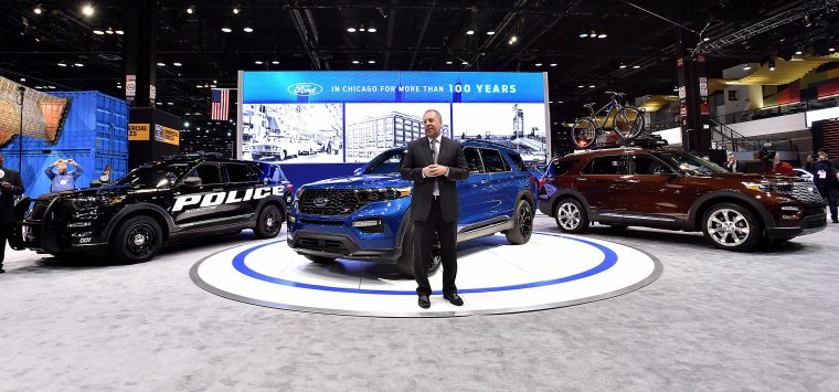 Joe Hinrichs at Chicago Auto Show