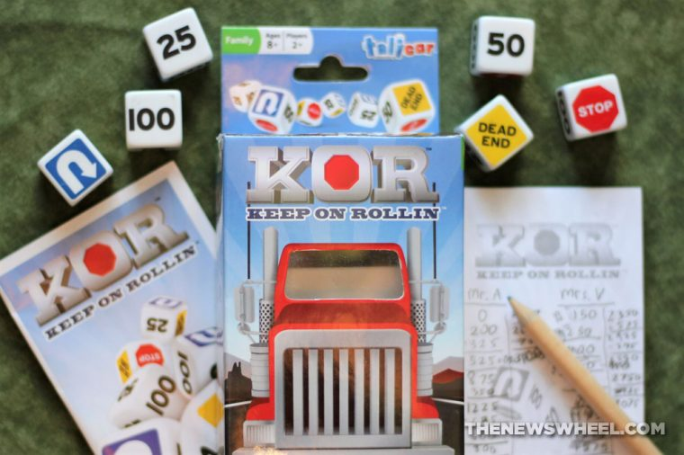 KOR Keep on Rollin Dice Game review Talicor trucking big rig automotive