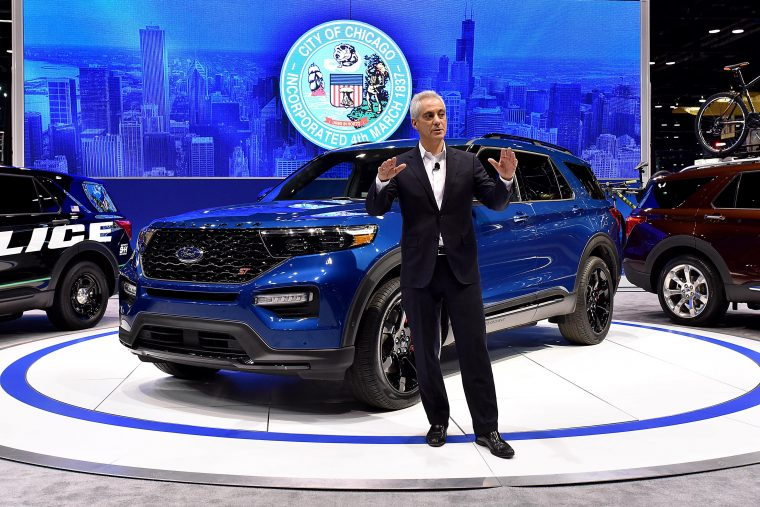 Mayor Rahm Emanuel at Chicago Auto Show