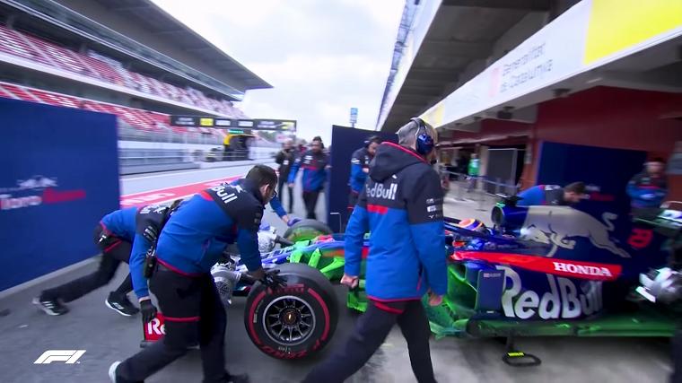 Toro Rosso Honda during 2019 F1 Pre Season Week 1