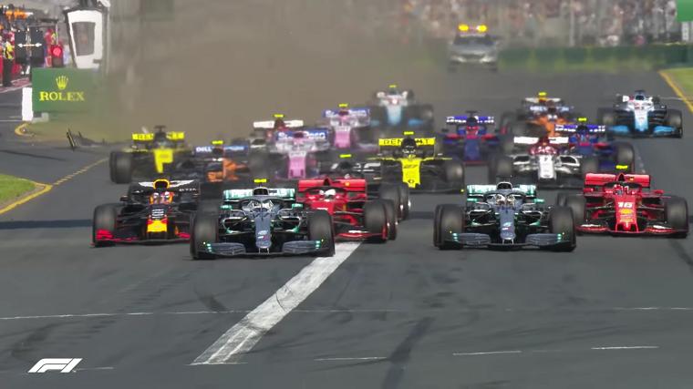 2019 Australian GP Start