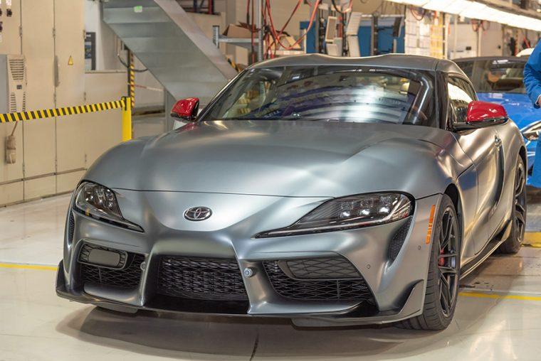 2020 Toyota GR Supra Rolls Off Assembly Line