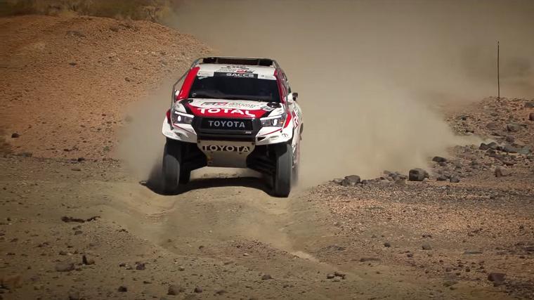 Alonso Testing Toyota Hilux Dakar