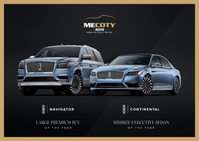 Lincoln Navigator and Continental Win 2019 Middle East Car of the Year Awards