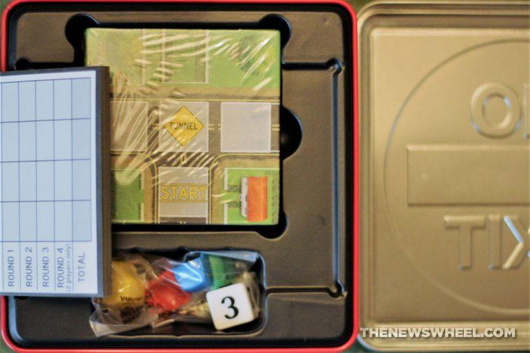 No Exit Board Game Car Pressman Toys 2013 road tile race box components