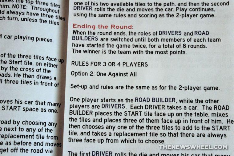 No Exit Board Game Car Pressman Toys 2013 road tile race instructions