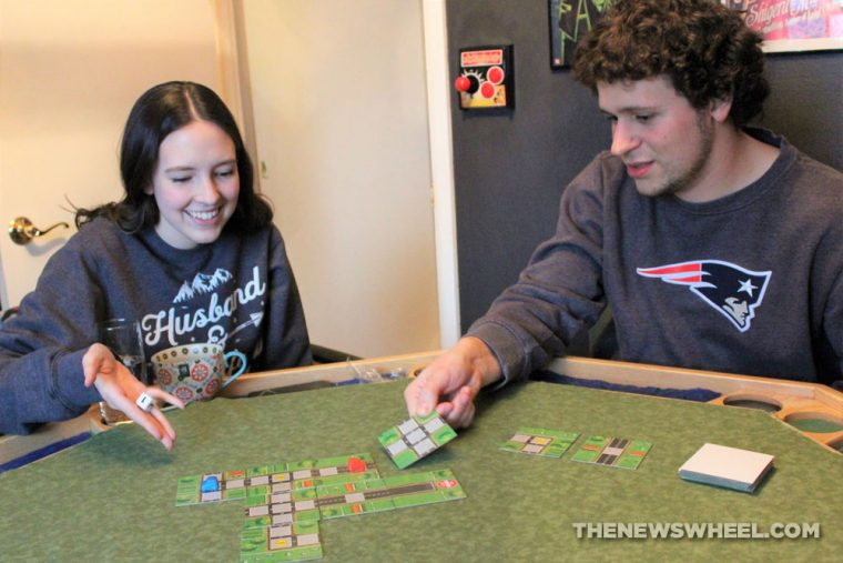 No Exit Board Game Car Pressman Toys 2013 road tile race play