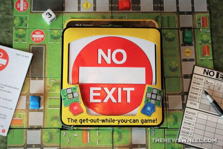 No Exit Board Game Car Pressman Toys 2013 road tile race review