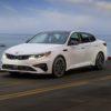 2019 Kia Optima SX white exterior
