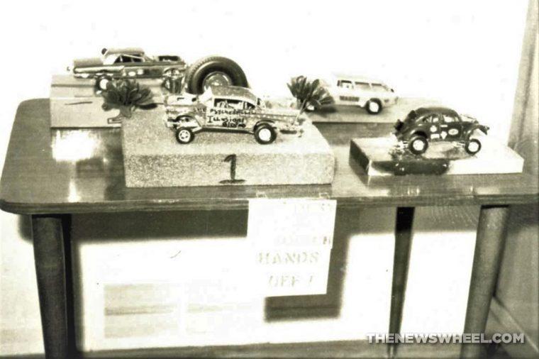 Building model cars memories childhood 1960s hobby history award display