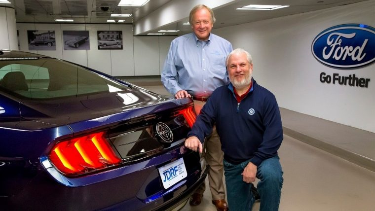 Jesse Foster Takes Delivery of Kona Blue Ford Mustang