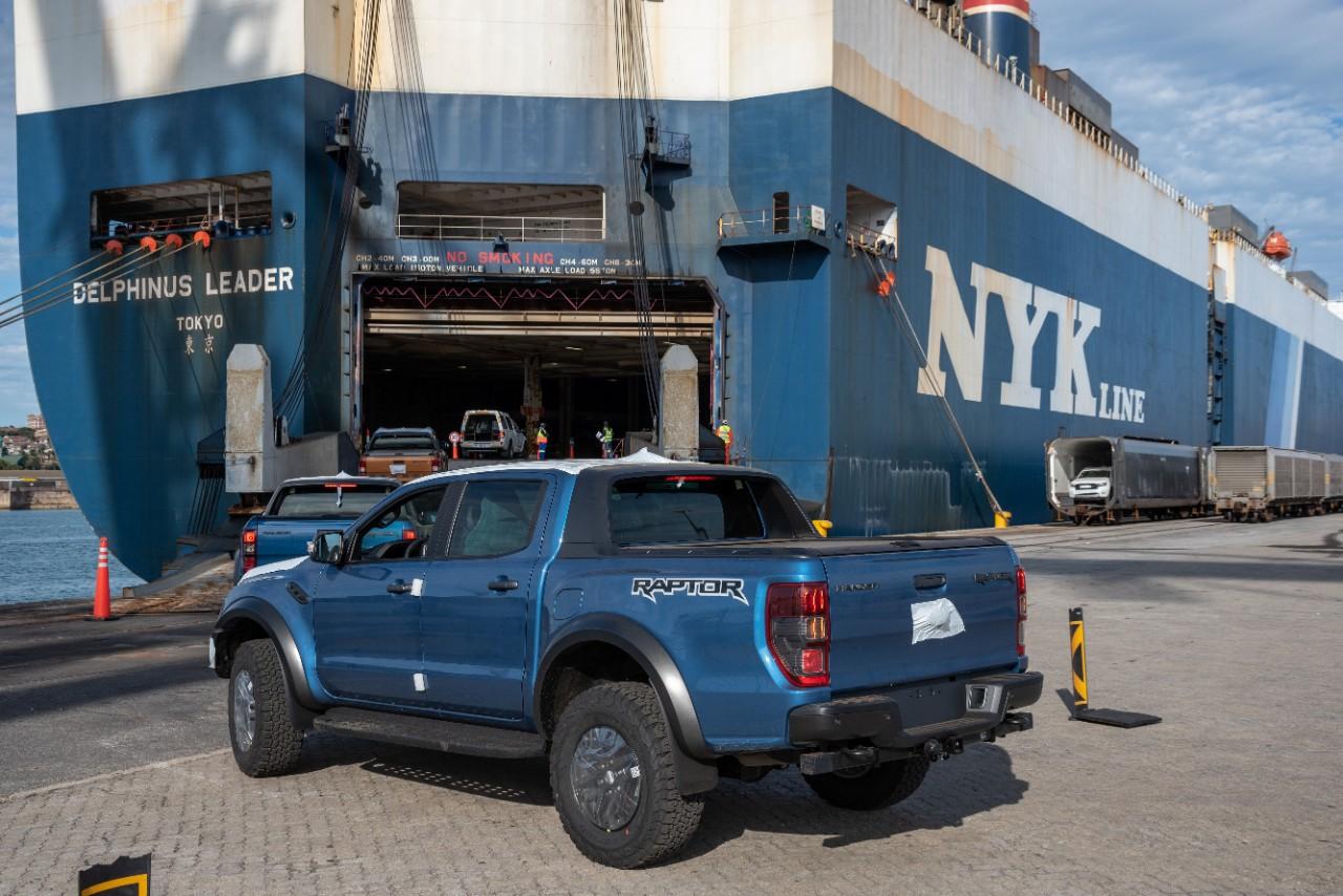 first new ford ranger trucks ship from port elizabeth the news wheel. Black Bedroom Furniture Sets. Home Design Ideas
