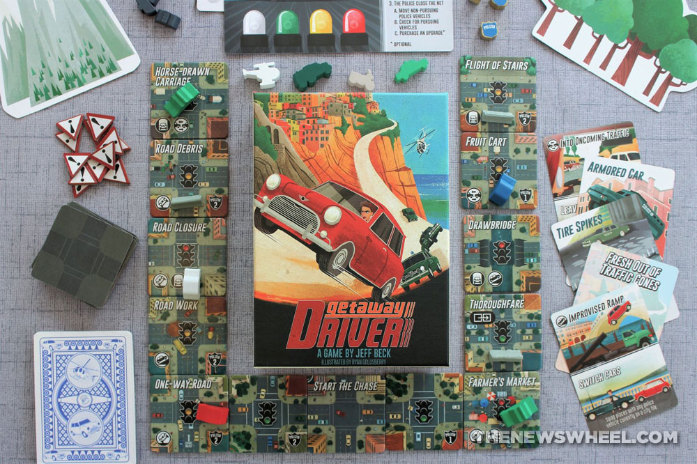 Getaway Driver board game review car race strategy escape 2 players Jeff Beck