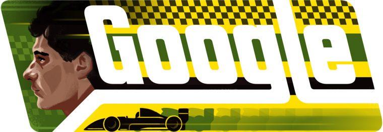 Google Doodles involving cars drivers vehicles automobiles ayrton Senna birthday Formula 1 racing