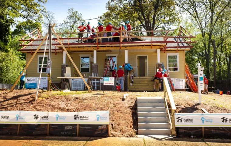 Nissan working on a Habitat for Humanity Home