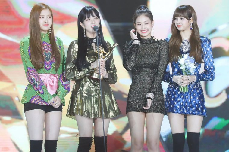 K-pop Group BLACKPINK Accepts an Award