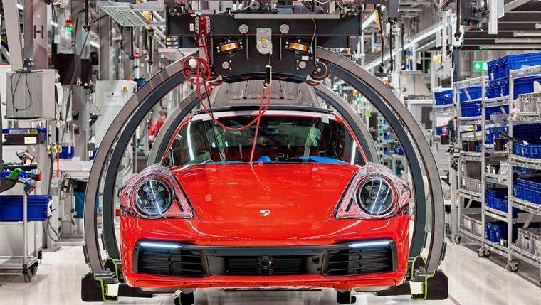 Porsche 911 in Production Line