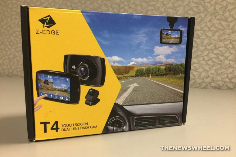 Z-EDGE T4 Touch Screen Dual Lens Dash Cam