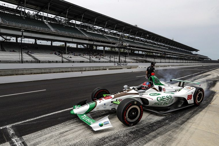 Colon Herta at 2019 Indy 500 Practice