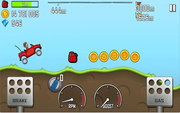 Hill Climb Racing mobile game app truck jump