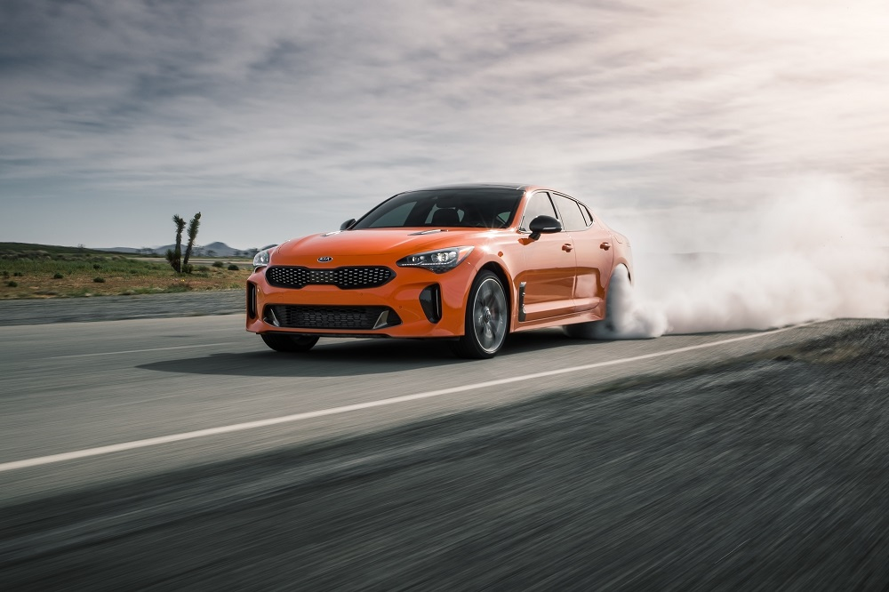 Limited Edition Kia Stinger GTS orange