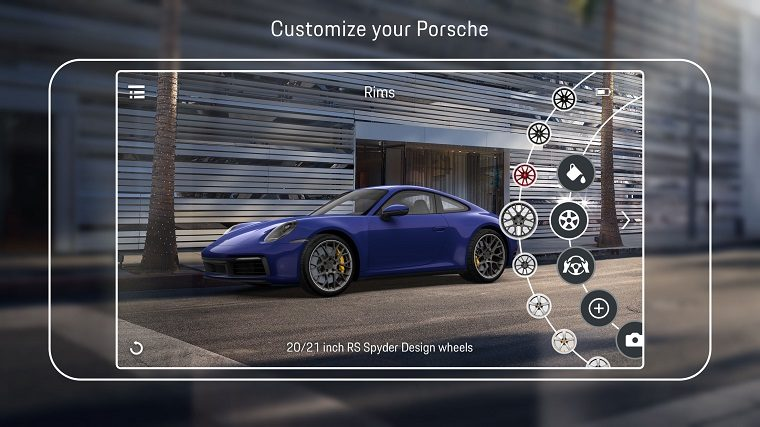 Porsche Augmented Reality Visualizer App