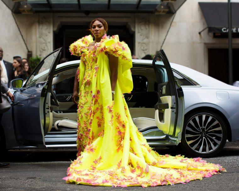 Serena Williams in a Lincoln Continental Coach Door Edition Met Gala
