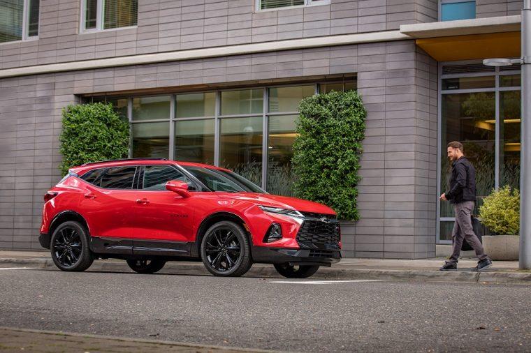 2019 Chevrolet Chevy Blazer red