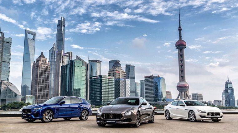 2019 Maserati Models Pose in Shanghai
