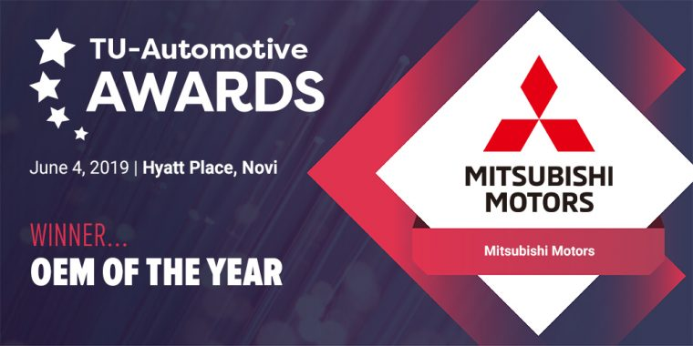 Mitsubishi is Awarded at TU-Automotive Detroit for Road Assist+