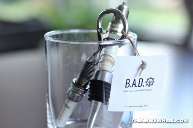 B.A.D. Ben's Automotive Decor upcycled car parts gifts home decor accessories buy review engine drink barware men
