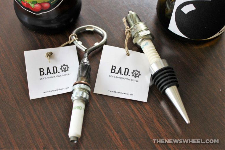 B.A.D. Ben's Automotive Decor upcycled car parts gifts home decor accessories buy review spark plugs