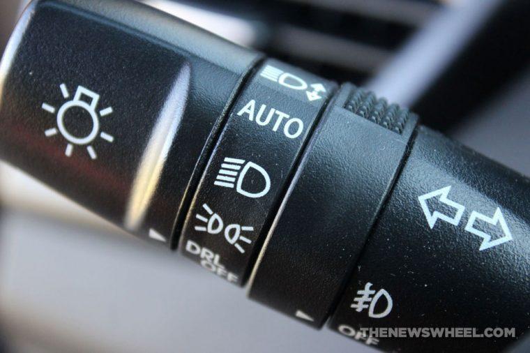 Car headlights symbols icons lights stick dial