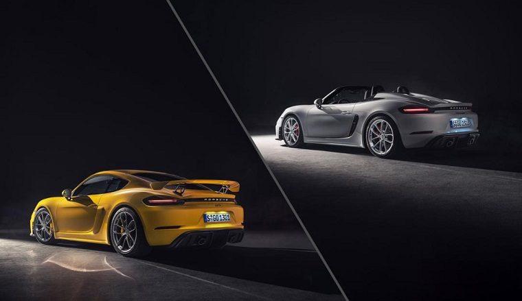 New Porsche 718 Cayman GT4 and 718 Spyder