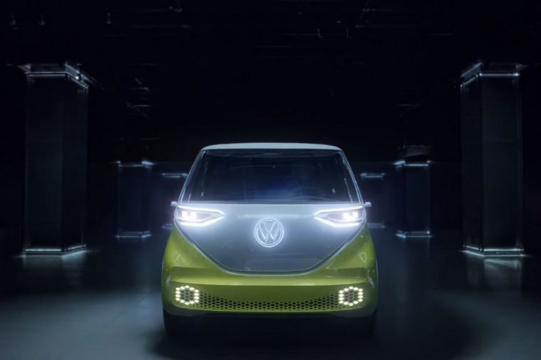 Volkswagen ID Buzz Hello Light Branding Campaign Electric Concept Vehicle