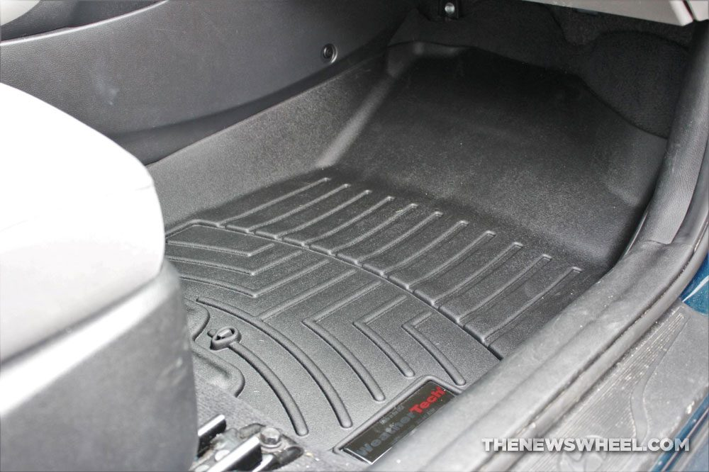 Weathertech Floorliners review car floor mats rubber heavy duty worth it for price difference view Hyundai Elantra