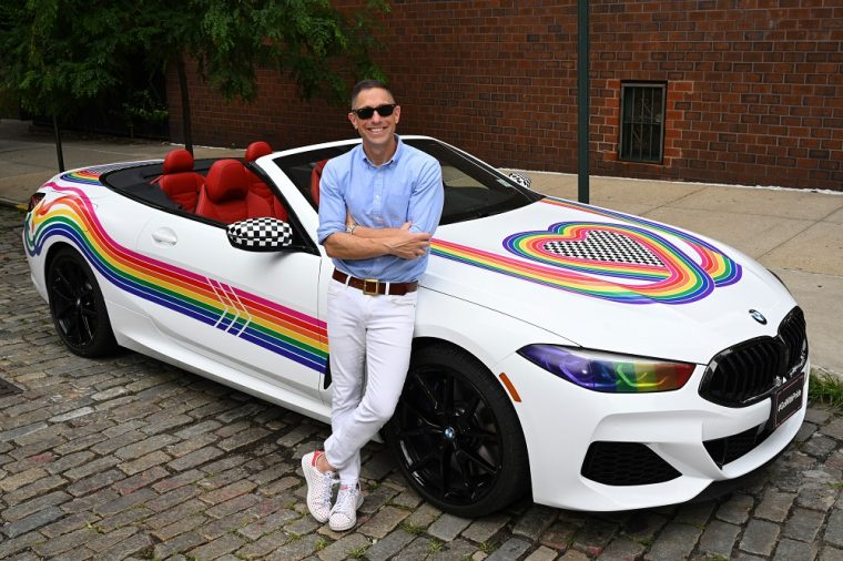 BMW 8 Series Convertible Jonathan Adler New York City World Pride 2019
