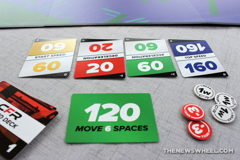 Championship Formula Racing review car race board game motorsports simulation speed card