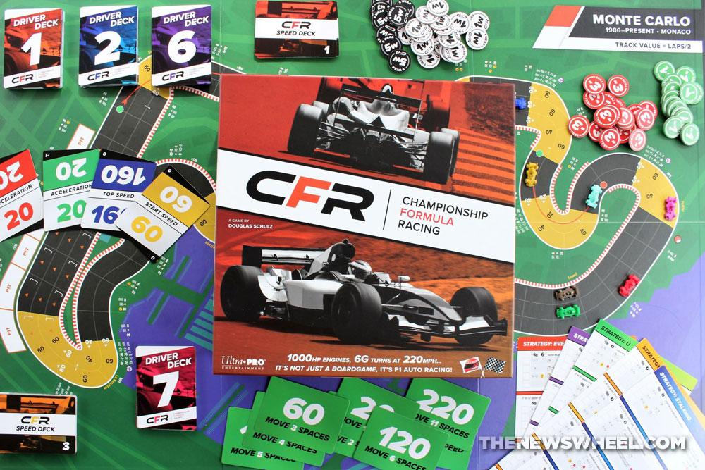 Championship Formula Racing review car race board game motorsports simulation tabletop