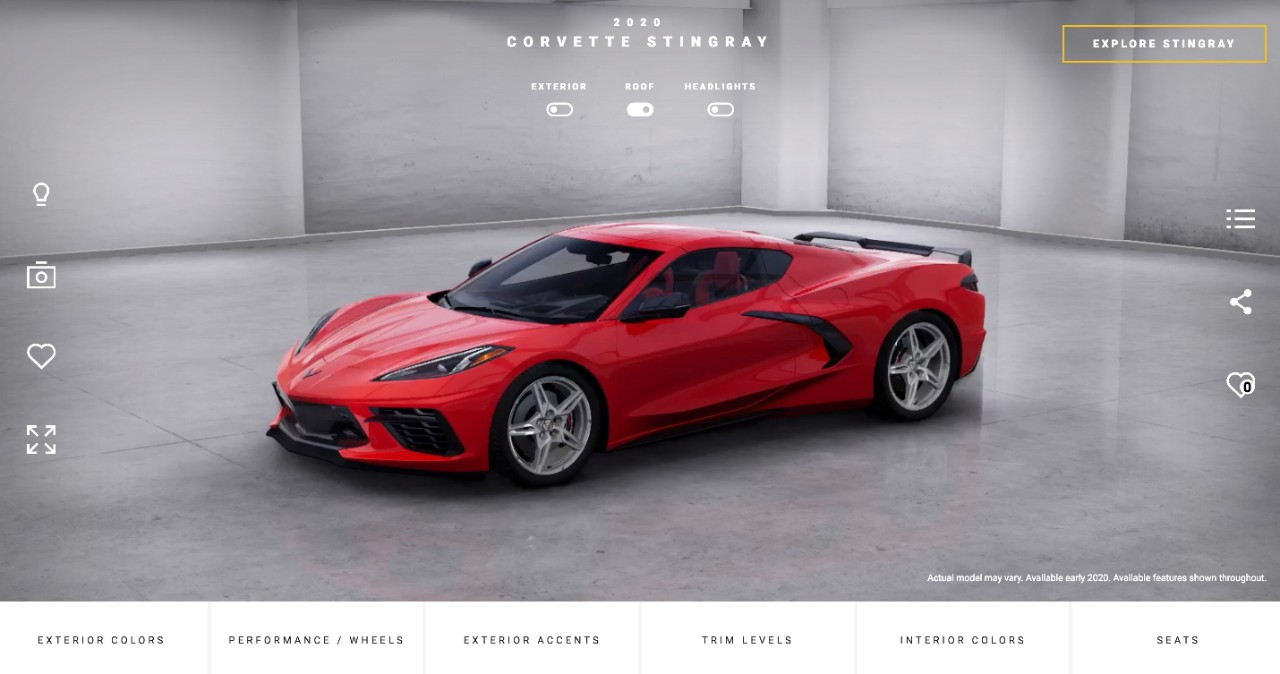 Corvette Visualizer Lets You Build Your Ideal 2020 ...
