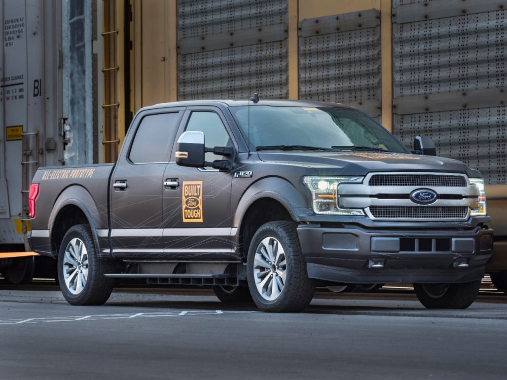 Ford F-150 all-electric prototype | Report: Ford F-150 Electric Adopting Lightning Name