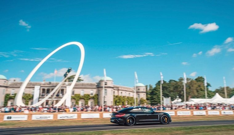Porsche Taycan at Goodwood House 2019
