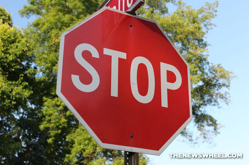 Stop Sign Red Traffic Street Intersection