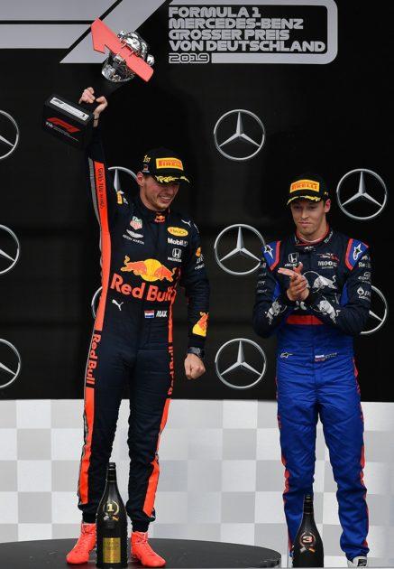 Verstappen & Kvyat on 2019 German GP Podium