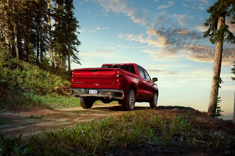 2019 Chevy Chevrolet Silverado rear red outdoors camping